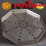 Potis grease pan, octagonal incl. perforated plate 500x500x50mm